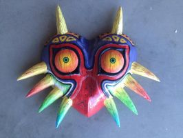 Straight Horns Woodgrain Majora's Mask by Xaveric