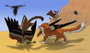 G-Milvus-Young Gryphon-3 by Shadow-and-Flame-86