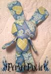 Patched Hearts Bunny Plushy by PerlerPixie