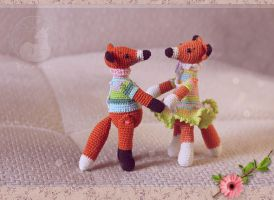 Foxes card by Keila-the-fawncat