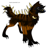 mutant canine adoptable by DrappingMalice