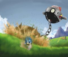 Green Hill Zone, Act 3 by Reillyington86