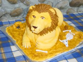 Lion cake by Shoshannah84