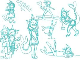 Orabell sketches by PolarBearLivii