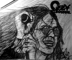 Ozzy Osbourne Scribble by SpiderRainboots