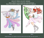 Draw this again! Meme: Nadja S. 2008-2014 by Opallynia