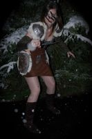 Aela the Huntress Cosplay (Skyrim) - Winter Night by LadySnip3r