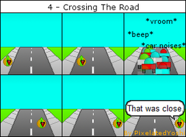 4 - Crossing The Road by PixelatedYoshi