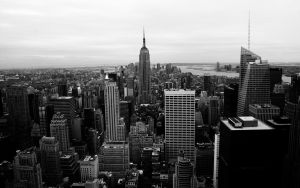 NY Skyline BW by FletchLives
