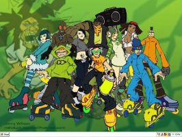 Jet Set Radio Wallpaper by z33k