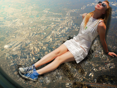 Giantess Ellie Relaxes on the City by dochamps