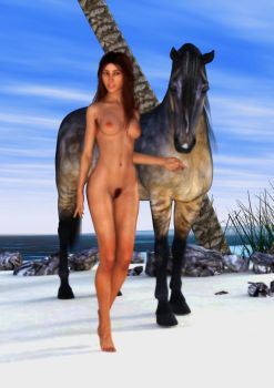 Horse Lady 1 by beedoll