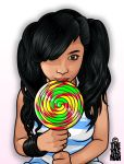 Nisa and her huge... Lolly. by theyasman