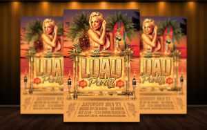 Luau Party / Summer Flyer by MatteoGianfreda94