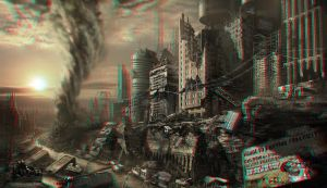 City Ruins 3-D conversion by MVRamsey