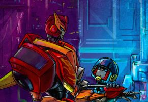TFA Rodimus and Hot Shot by Aiuke