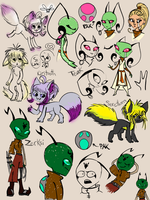 Alien Character Sketches by Kintupsi