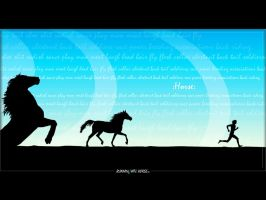 running with horses by SadSaturn