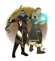 Commission: Couric and Romwyndil by GalooGameLady