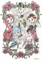 Goth Disney Fairies by MAD-as-a-HATTER12