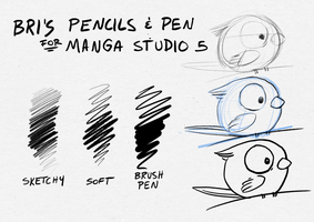 Pen/Pencils - Manga Studio 5 / Clip Studio Paint by BriMercedes