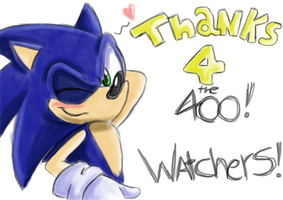 400 watchers!! by xRubiMalonex