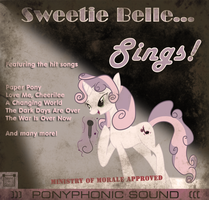 Sweetie Belle Sings - Album Cover by fancycat2008
