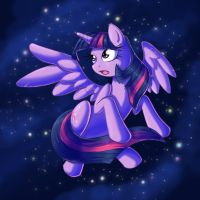 Princess Twilight in the Sky by kcday