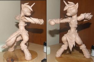 Lyra sculpture- WIP- 2 by RetardedDogProductns