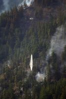Fire!  Helicopter Dropping Water. by SKiNBuS