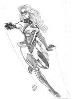 Ms Marvel Pencil sketch by WEDMER