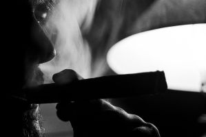 Self Portrait with Cigar by JaredPLNormand