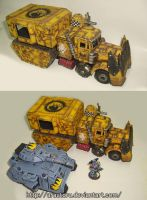 Ork Battlewagon (scratch). by Arastoru