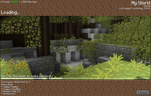 Minecraft Loadingscreen Cocept by x4ct1on