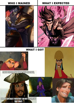 Who I Mained meme by blackandredwolf96