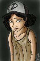 Clementine: The Walking Dead Game (Colored) by frankaraya