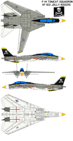 F-14Tomcat VF-103 Jolly Rogers by bagera3005