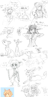 Pokimono Sketch Dump 12 by loverofscythe