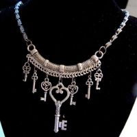 Tribal Steampunk Keys Necklace by SteamSociety