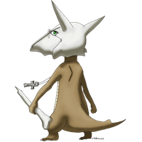 Reverse Gijinka Collab Arcadia the Marowak by Miss-Arcadia
