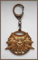 THE WITCHER - wood keyring by Piciuu