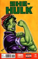 She Hulk the Riveter sketch cover by gb2k