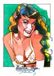 'Smile' Bettie Page by markmchaley