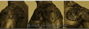 Polynesian shoulder design by shepush