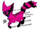 Pink K9 Hybrid Adoptable(for pts) *OPEN by wolfyxshexwolf