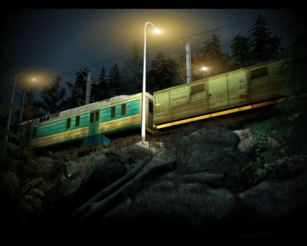 Forest train by KirilloTR0N