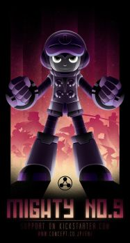 Mighty No. 9 Poster (Boss Version) by mscorley