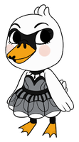 Animal crossing Colette by Asktheswanprincess
