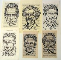 Author Drawings on Book Pages by sammo371