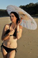 Rommley - bikini and parasol 3 by wildplaces